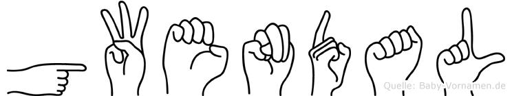 Gwendal in Fingersprache für Gehörlose