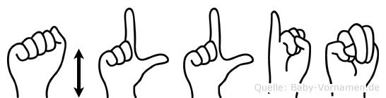 Ällin im Fingeralphabet der Deutschen Gebärdensprache
