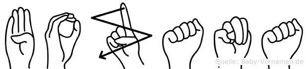 Bozana im Fingeralphabet der Deutschen Gebärdensprache