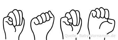Mane in Fingersprache für Gehörlose