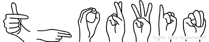 Thorwin in Fingersprache für Gehörlose