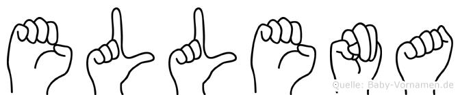 Ellena im Fingeralphabet der Deutschen Gebärdensprache