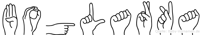 Boglarka im Fingeralphabet der Deutschen Gebärdensprache
