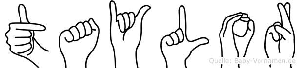 Taylor im Fingeralphabet der Deutschen Gebärdensprache