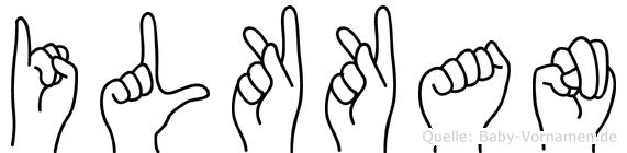 Ilkkan im Fingeralphabet der Deutschen Gebärdensprache