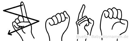 Zade im Fingeralphabet der Deutschen Gebärdensprache