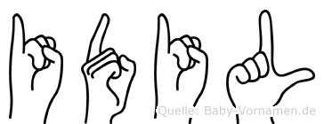 Idil im Fingeralphabet der Deutschen Gebärdensprache