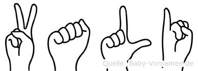 Vali in Fingersprache für Gehörlose