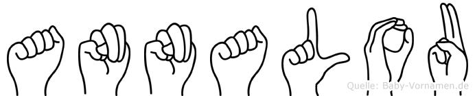 Annalou im Fingeralphabet der Deutschen Gebärdensprache