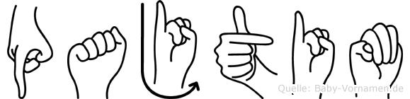 Pajtim in Fingersprache für Gehörlose