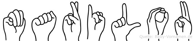 Marilou in Fingersprache für Gehörlose