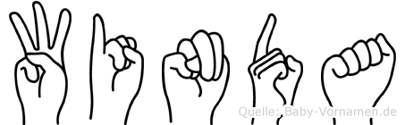 Winda im Fingeralphabet der Deutschen Gebärdensprache