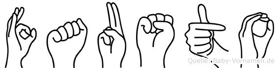Fausto in Fingersprache für Gehörlose
