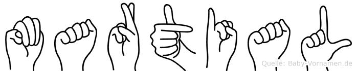 Martial in Fingersprache für Gehörlose