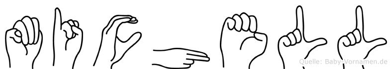Michell im Fingeralphabet der Deutschen Gebärdensprache