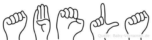 Abela in Fingersprache für Gehörlose