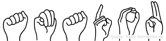 Amadou in Fingersprache für Gehörlose