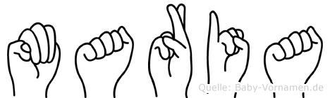 Maria in Fingersprache für Gehörlose