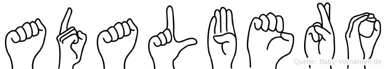 Adalbero in Fingersprache für Gehörlose