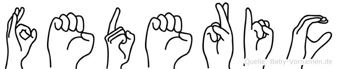 Federic in Fingersprache für Gehörlose