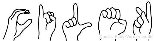 Cilek in Fingersprache für Gehörlose