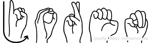 Joren in Fingersprache für Gehörlose