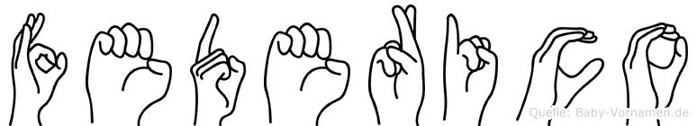 Federico in Fingersprache für Gehörlose