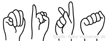 Mika in Fingersprache für Gehörlose