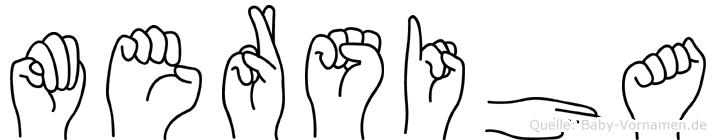 Mersiha im Fingeralphabet der Deutschen Gebärdensprache