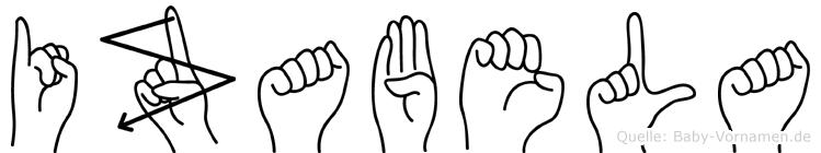 Izabela in Fingersprache für Gehörlose