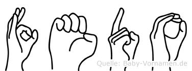 Fedo in Fingersprache für Gehörlose