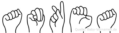 Ankea im Fingeralphabet der Deutschen Gebärdensprache