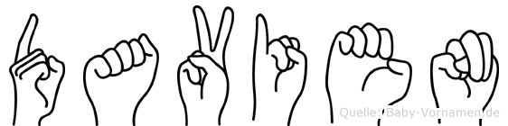 Davien in Fingersprache für Gehörlose
