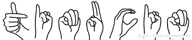 Timucin im Fingeralphabet der Deutschen Gebärdensprache