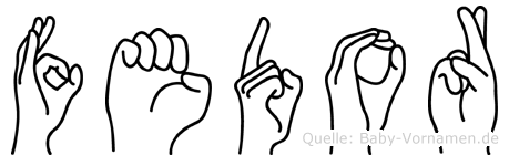 Fedor in Fingersprache für Gehörlose