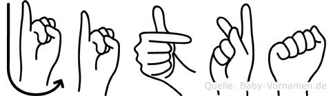 Jitka in Fingersprache für Gehörlose