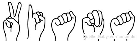 Viana in Fingersprache für Gehörlose
