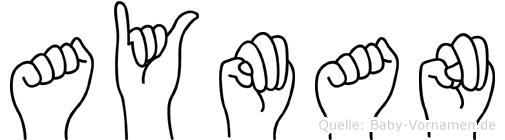 Ayman in Fingersprache für Gehörlose