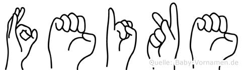 Feike in Fingersprache für Gehörlose