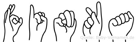 Finka in Fingersprache für Gehörlose