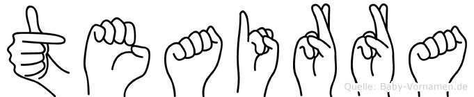 Teairra in Fingersprache für Gehörlose