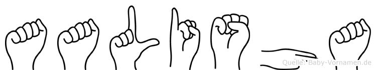 Aalisha im Fingeralphabet der Deutschen Gebärdensprache