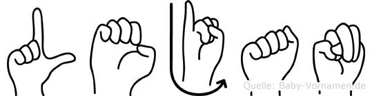 Lejan in Fingersprache für Gehörlose