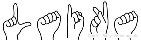 Laika in Fingersprache für Gehörlose