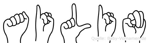 Ailin im Fingeralphabet der Deutschen Gebärdensprache