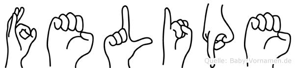 Felipe im Fingeralphabet der Deutschen Gebärdensprache