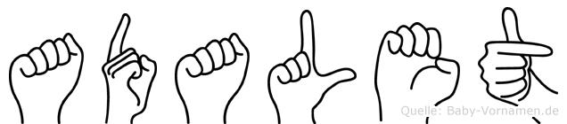 Adalet in Fingersprache für Gehörlose
