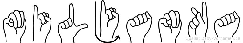 Miljanka im Fingeralphabet der Deutschen Gebärdensprache