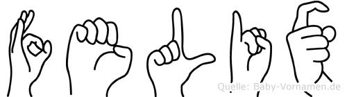 Felix in Fingersprache für Gehörlose
