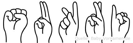 Sukri in Fingersprache für Gehörlose
